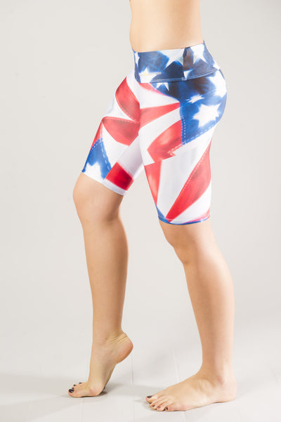 Patriotic Bike Compression Short