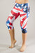 Patriotic Compression Capri