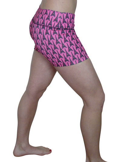 Pink Eiffel Tower Shorts