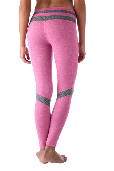 Pink Honeycomb Compression Legging