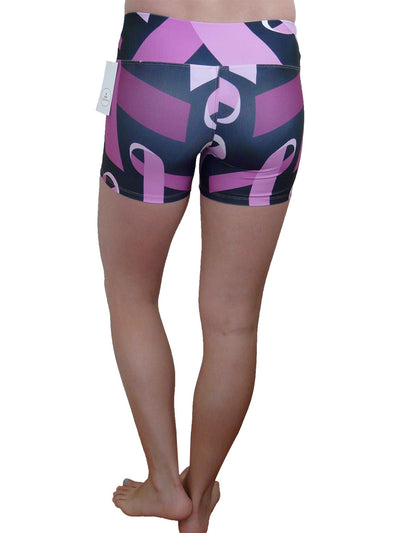 Pink Ribbon Compression Shorts