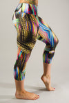 Pretty Paint Mid-Calf Compression Capri