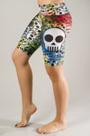 Rainbow Skull Bike Compression Short