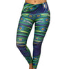 Peacock Blur Compression Legging