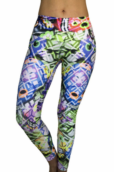 HAPPY SKULLS COMPRESSION PANTS