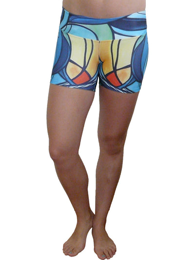 Stained Glass Compression Short