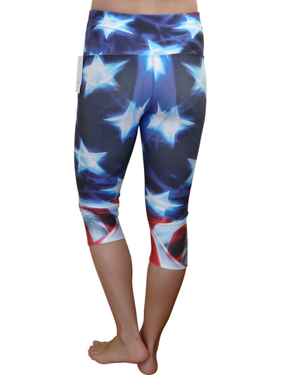 Stars with a Touch of Stripes Compression Capri