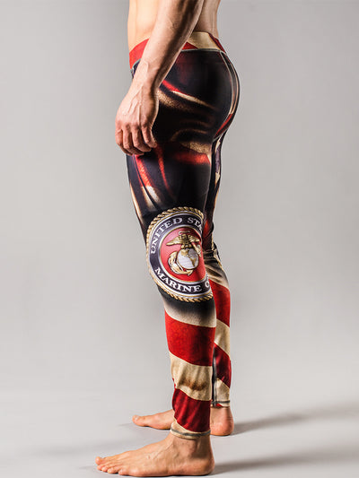 USMC Flag Mens Tights