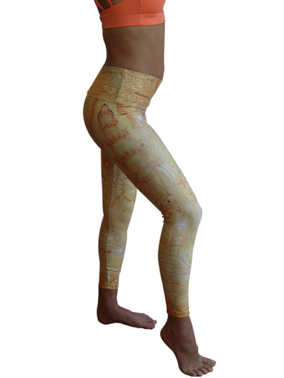 Yellow Tara Compression Legging