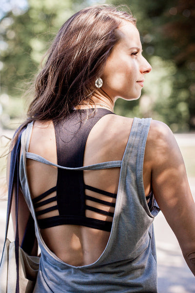 Black All A-Bout Sports Bra