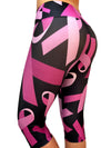 Pink Ribbon Compression Capri
