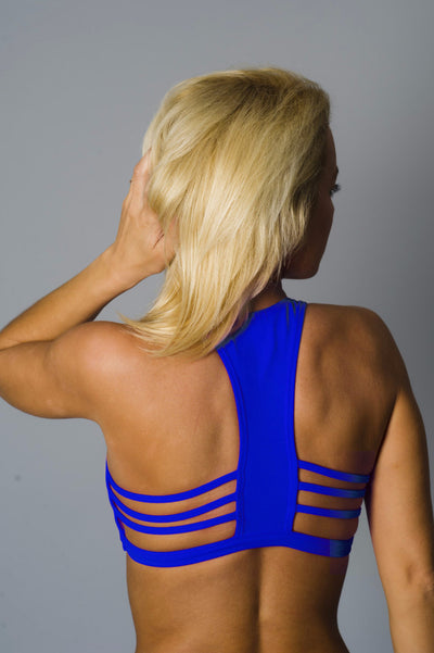 Blue All A-Bout Sports Bra