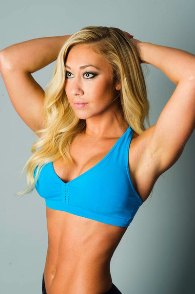 Down and Dirty Turquoise Sports Bra