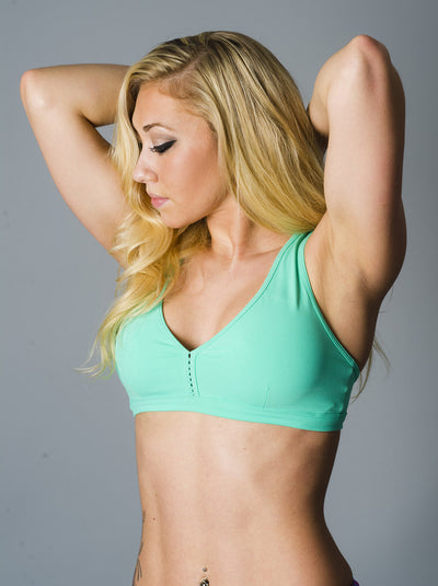 Teal Down and Dirty Sports Bra