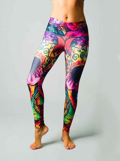 Happy Bones Compression Leggings