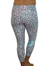 MINT CHEETAH COMPRESSION PANTS