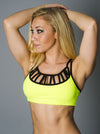 Yellow Laced Sports Bra
