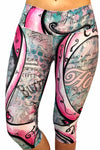 Artistic Awareness Pink Ribbon Compression Capri