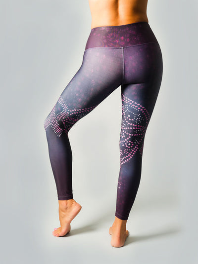 Pink Ribbon Henna Compression Leggings