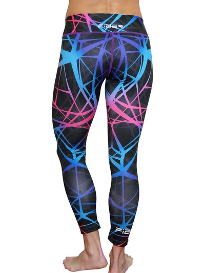 Pink Blue Web Leggings