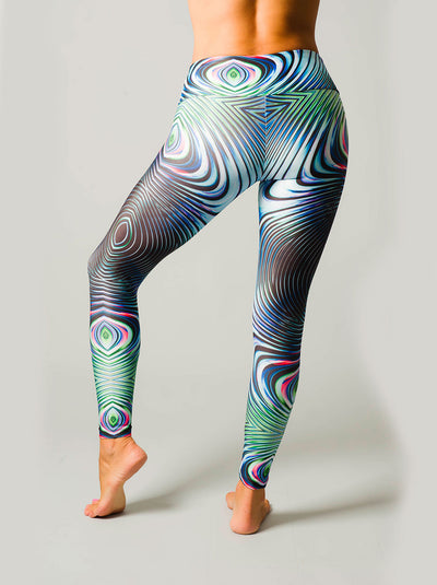 Psychedelic Peacock Compression Leggings