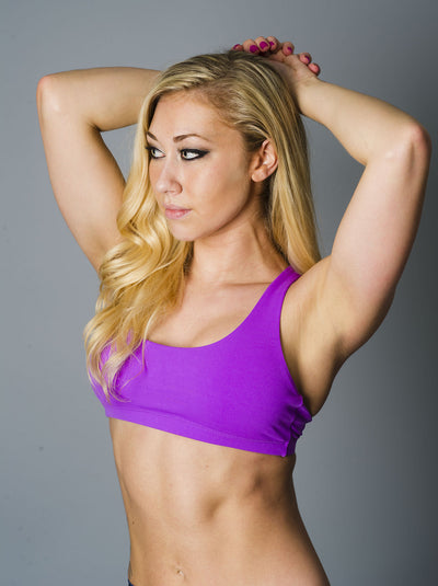 Purple Crossed Sports Bra