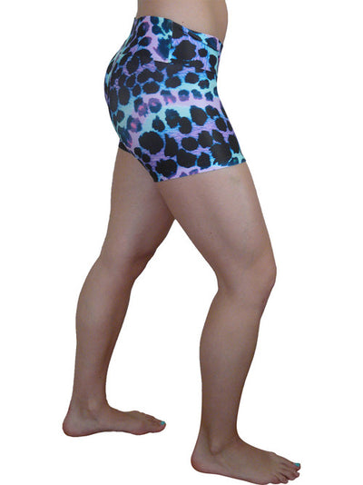 Purple Blue Animal Compression Shorts