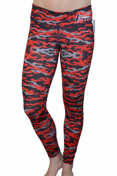 Red and Black Camo Legging