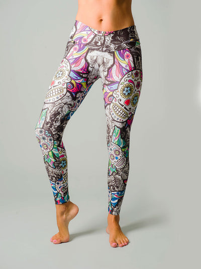 Sugar Skull Compression Leggings