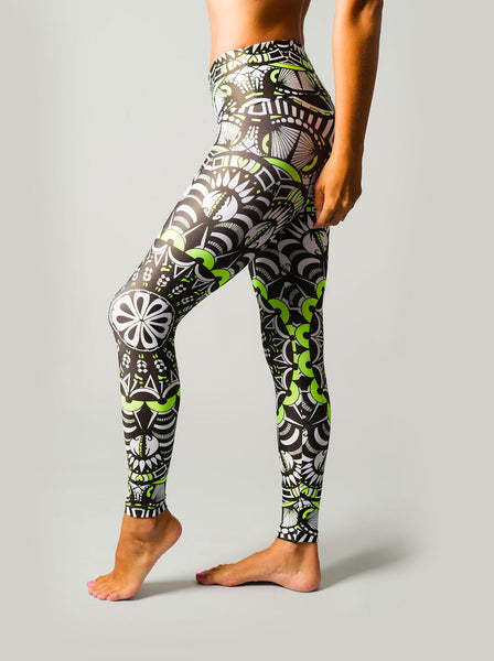 Tribal Green Compression Leggings