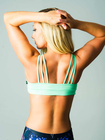 Web Sports Bra Mint