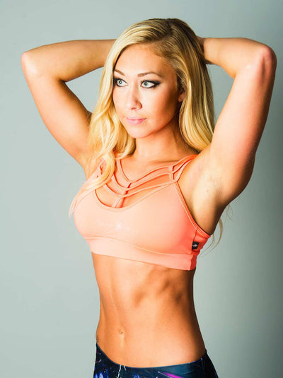 Web Sports Bra Peach