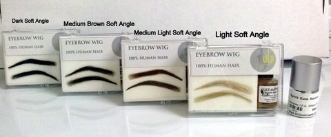 Human Hair Eyebrow Wig-Lady Soft Angle