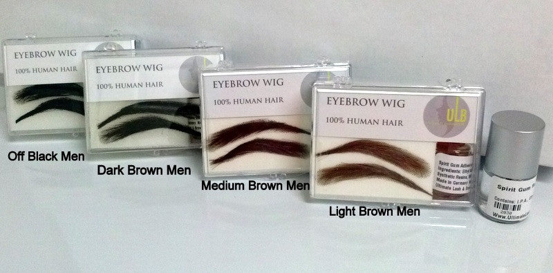Human Hair Eyebrow Wig-Men
