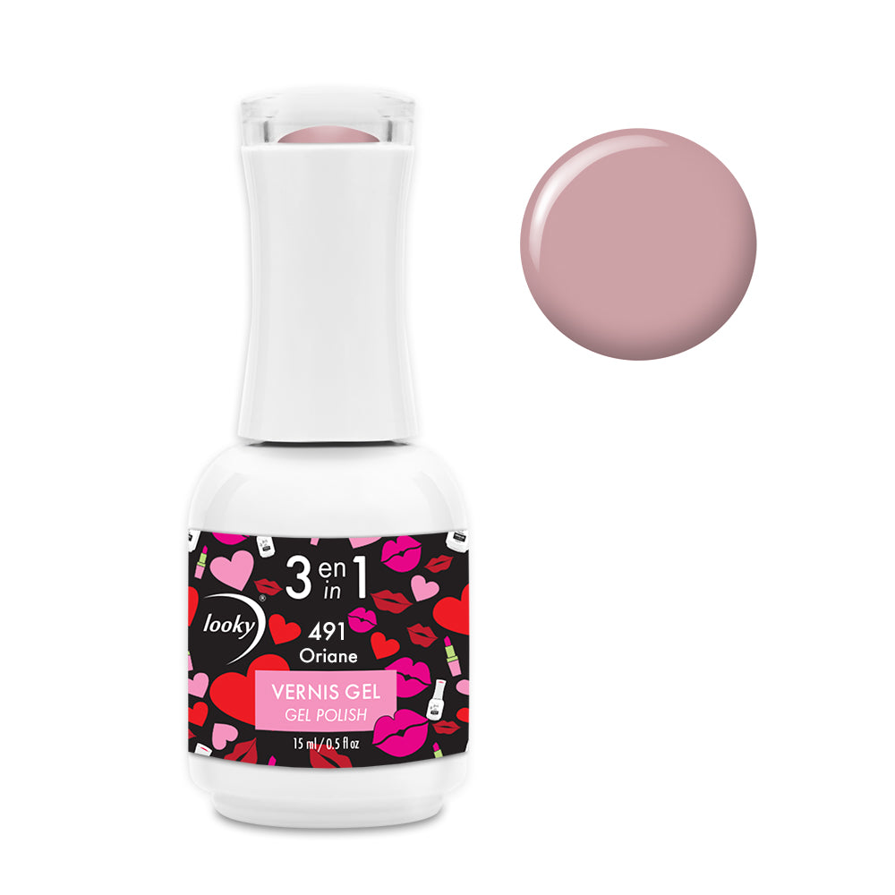 Vernis Gel 3 en 1 #491 Oriane (Collection Love)