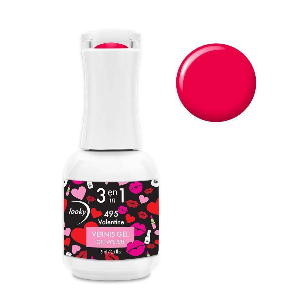 Vernis 3 en 1 Collection Love #495 Valentine