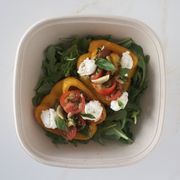 Roasted Pepper Salad with Cherry Tomatoes and Ricotta