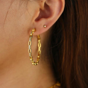 Link hoop earrings - Marbecs Boutique