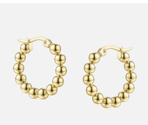 Ball hoop earrings - Marbecs Boutique