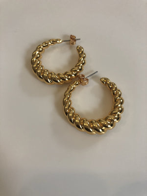 Twist hoop earrings - Marbecs Boutique
