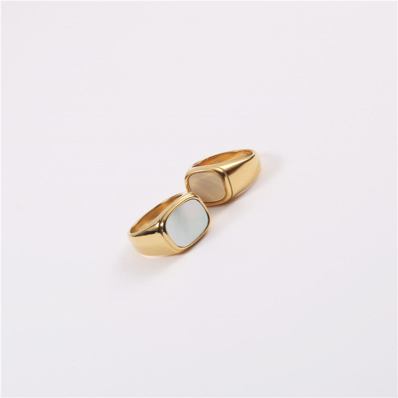 White shell ring