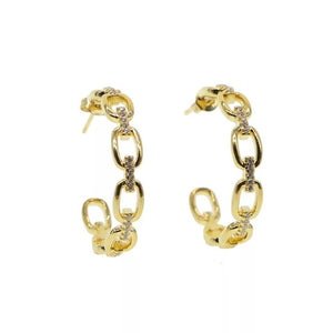 Small link hoop earrings - Marbecs Boutique