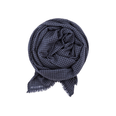 Gingham Check Cashmere Scarf