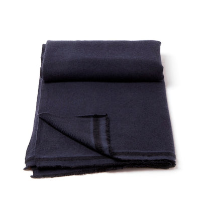 Two-Tone Twill Cashmere Blanket