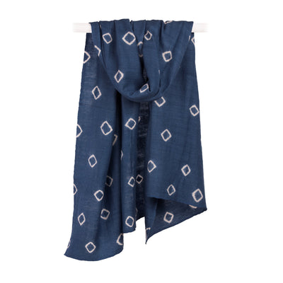 The Ditte Indigo Tibetan Cashmere and Silk