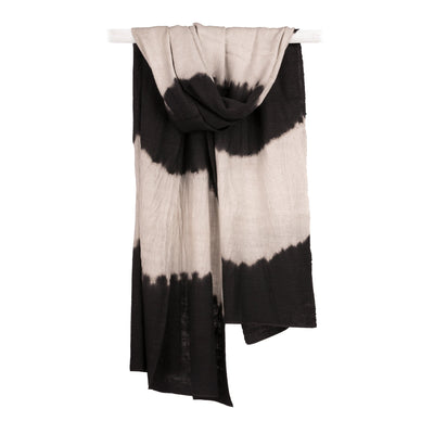 The Ditte Black Tibetan Cashmere and Silk