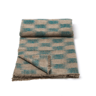 Tibetan Handspun Yak Ikat Throw