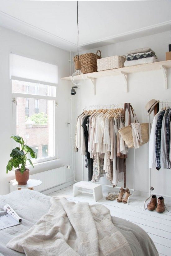 Creative closet ideas for bedrooms without them the Rooms without closets creative