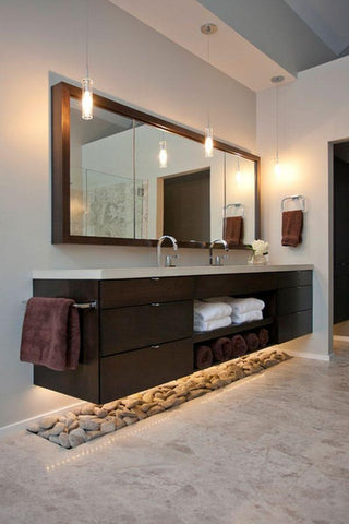 Floating bathroom vanity