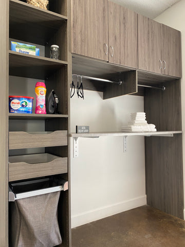 laundry room organization and storage